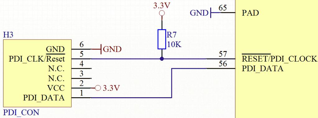 ATMEL XMEGA128A3 PDI Beispiel